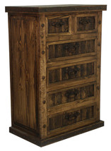 Finca Six Drawer Chest Of Drawers With Reclaime... - $1,183.05