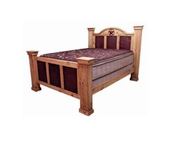 Rustic Chipilo Iron Bed * King or Queen * Solid Wood * Free Shipping Low... - $1,153.05+