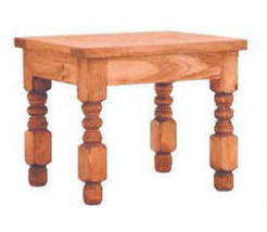 Lyon End Table - Real Wood Furniture Cabin Lodge Natural Honey Rustic - $207.90