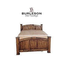 Rustic Medium Wax Economy Mansion Bed Dark Walnut Finish Solid Wood - $989.99+