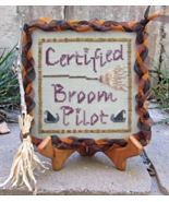 Certified Broom Pilot cross stitch chart Designs by Lisa - $6.30