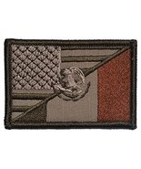 Mexican / USA Flag Patch 2x3 - Coyote - $5.87