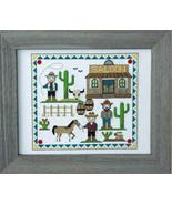 Cute Cowboys cross stitch chart Tiny Modernist Inc - $8.10