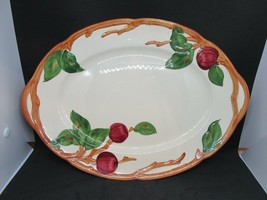 "FRANCISCAN Apple Pattern Oval Serving Platter 14"" American Backstamp EUC - $39.95"