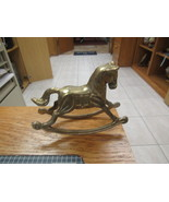 "Solid Brass Rocking Horse Collectible Figurine      5 ½"" LONG  4"" HIGH      - $11.00"