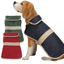 Casual Canine Dog Barn Coat w/ Contrast Trim Jacket Pet Winter fleece li... - $17.99+