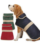 Casual Canine Dog Barn Coat w/ Contrast Trim Jacket Pet Winter fleece li... - $17.99+