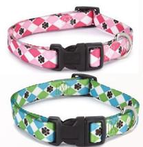 Casual Canine Pooch Pattern Argyle Nylon Dog Collar  - $4.99+