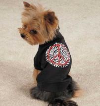 Zack & Zoey Zebra Peace Sign Dog T-Shirt Tee Black Pet Top New - $11.99+