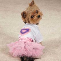 Zack & Zoey Chiffon Hearts Tee & Skirt Set Dress t-shirt top tulle ruffl... - $18.50+
