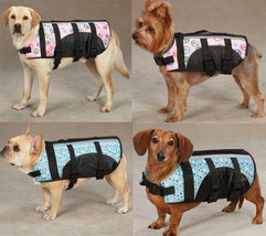 DOG PET PRESERVER LIFE JACKET SAFETY VEST PEACE DOTS FASHION PRINT PINK ... - $10.95+