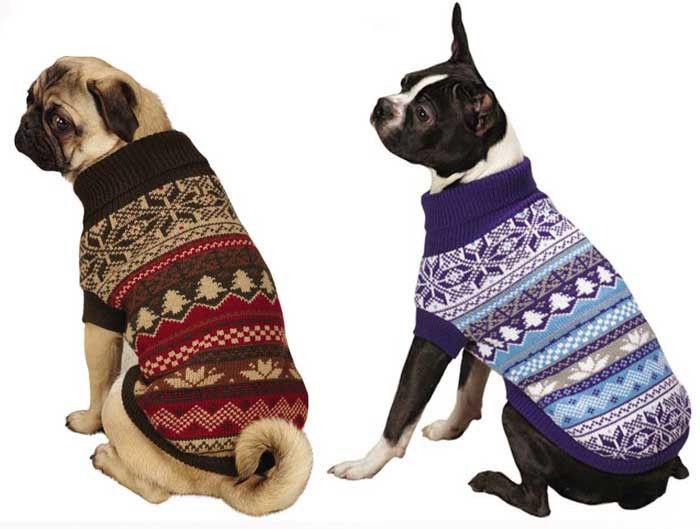 Ski Lodge Dog Turtleneck Sweater Pet  East Side Coill Pet Apparel blue brown NEW - $16.99 - $20.99