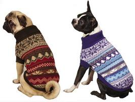 Ski Lodge Dog Turtleneck Sweater Pet  East Side Coill Pet Apparel blue b... - $16.99+