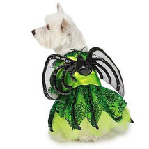 Dog Halloween Costume Neon Spider Princess Costumes Dress Pet BRAND NEW - $16.59