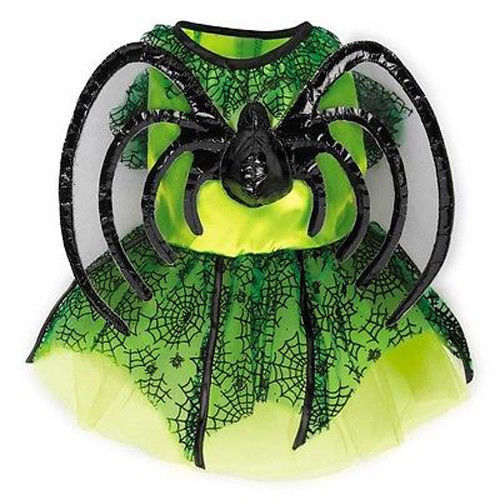 Dog Halloween Costume Neon Spider Princess Costumes Dress Pet BRAND NEW