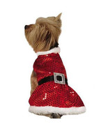 Zack & Zoey Mrs. Claus Sequin Dog Dress Pet Christmas Xmas Red Outfit Santa - $24.99