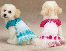 East Side Collection Tie Dye Dog Cover Up Dress Pink Blue Pet Dress Puppy - $13.99+