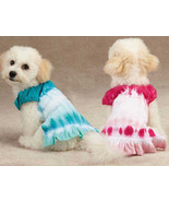 East Side Collection Tie Dye Dog Cover Up Dress Pink Blue Pet Dress Puppy - $13.99 - $19.99