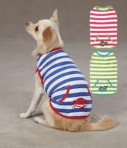 Dog Tank Top T-Shirt Beachcomber Zack & Zoey stripes Pet Shirts - $7.99