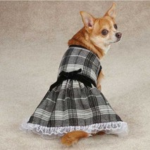 Zack & Zoey Park Avenue Dog Dress Black pet dresses ruffle - $14.99+