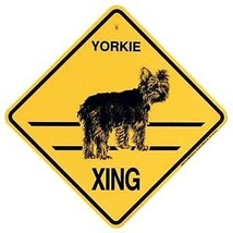 Yorkie  Xing Sign Dog  Crossing NEW Yorkshire Terrier - $7.25