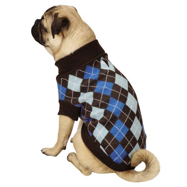 Primary image for Zack & Zoey Argyle Prep Dog Sweater Pet Sweaters Preppy Plaid