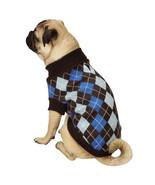 Zack & Zoey Argyle Prep Dog Sweater Pet Sweaters Preppy Plaid - $14.99+