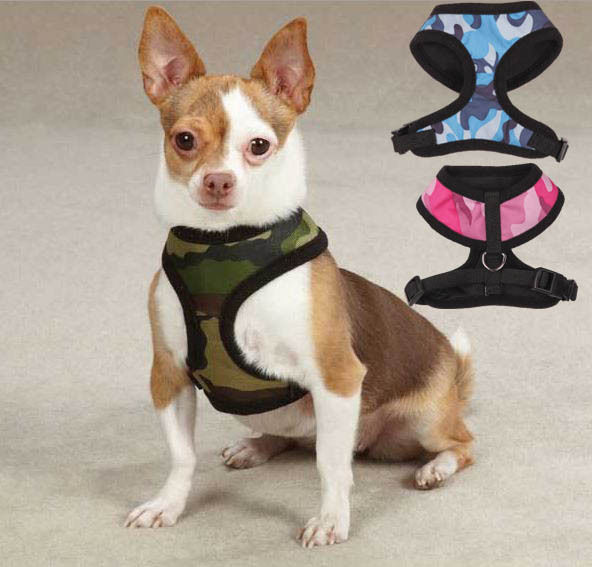 Dog Camo Camouflage Soft Dog Harness XS-L Casual Canine Pet - $13.99