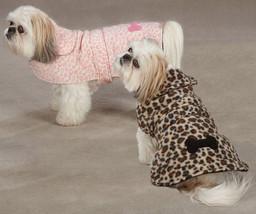 Dog Posh Leopard Fleece Coat Jacket  XXS - XXL  pet barn coats jackets pink Soft - $14.99+