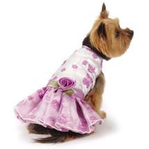 East Side Collection Elegance Rosette Dog Dress Pet Dresses Violet Pretty - $19.99