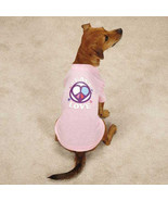 Casual Canine Peace and Love Dog Top Tee T-Shirt Pet Tees Pink Peace Sign - $11.99+