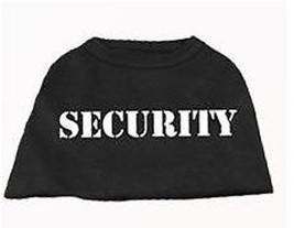 Black  Dog Tank Shirt Top SECURITY Dog Tee T-Shirt - $11.99