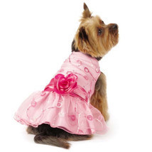 East Side Collection Elegance Rosette Dog Dress Pet Dresses Pink Pretty - $19.99