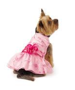 East Side Collection Elegance Rosette Dog Dress Pet Dresses Pink Pretty - $19.99