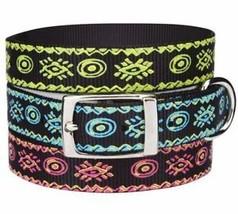 Dog Collar Artisan Nylon Collar black blue green pink Pet Collars - $5.99+