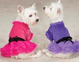 Zack & Zoey Vibrant Party Dress Dog Pet tulle skirt pink purple velvet bow - $18.99+
