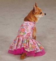 Spring Garden Dog Dress  pet dresses pink tulle underlay pleated skirt pet - $13.99