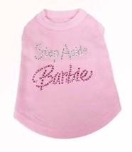 Pink Dog Tank Shirt Top Step Aside Barbie Tee T-Shirt - $12.99