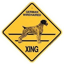 German Wirehaired Pointer  Xing Sign Dog Crossing NEW - $7.25