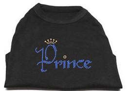 PRINCE Black Dog Tank Shirt Top  Tee T-Shirt Rhinestone crown Pet - $12.99