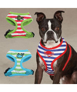 Soft Fabric Beachcomber Dog Harness Striped Mesh Harnesses Zack & Zoey N... - $15.99