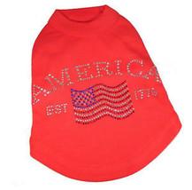 Red Dog Tank Shirt Top America Flag Tee T-Shirt - $12.99