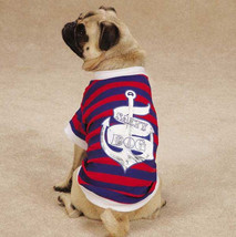 Salty Dog T-Shirt Tee Blue East Side Collect Top Pet  Nautical All Paws on Deck - $11.99+