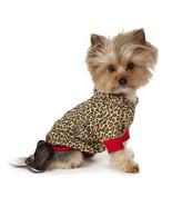 M. Isaac Mizrahi Leopard Pullover T-Shirt Pet Dog Shirt Top Red Tee Hoodie - $26.99+