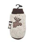 Dog Sweater Zack & Zoey Northern Woods Moose Sweaters Pet Brown turtleneck - $27.99+