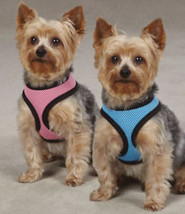 Soft Mesh Dog Harness Comfort Vest pastel pink blue - $11.99