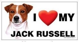 I Love My Jack Russell Car Magnet 8x4 Dog Sign - $5.89
