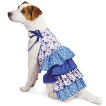 Dog Dress Darling Daisy Tiered Dog Dress Sundress  Pet XXS-M Blue - $13.99