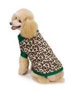 Dog Sweater Luxe Leopard Pet Sweater M. Isaac Mizrahi XXS-XL Clothing - $21.99