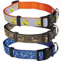 Zack & Zoey Water Ways Nylon Dog Collar Pet Collars Duck Mallard Scroll - $6.99+